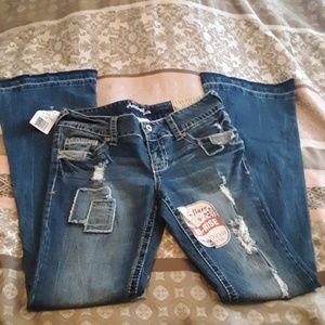 Amethyst Jeans Fit and Flare Jeans